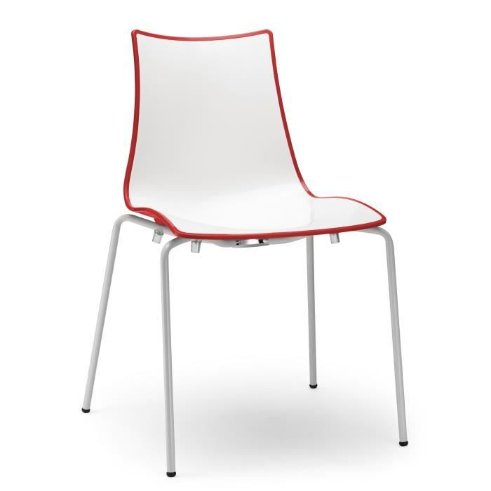 Elegant Table Cuisine Haute Fly With Chaise Blanche Rouge