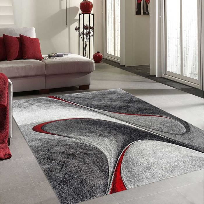 tapis salon dymmutegole rouge 120x170 par unamourdetapis tapis moderne achat vente tapis. Black Bedroom Furniture Sets. Home Design Ideas