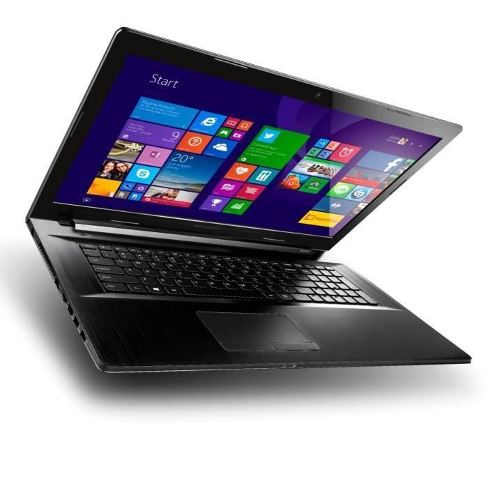 destockage lenovo pc portable g70 35 80q 17 3 4 go windows 10 noir ordinateur. Black Bedroom Furniture Sets. Home Design Ideas