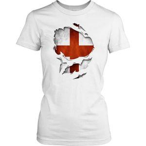 T-SHIRT Femmes t-shirt DTG Print - England Superhero Under
