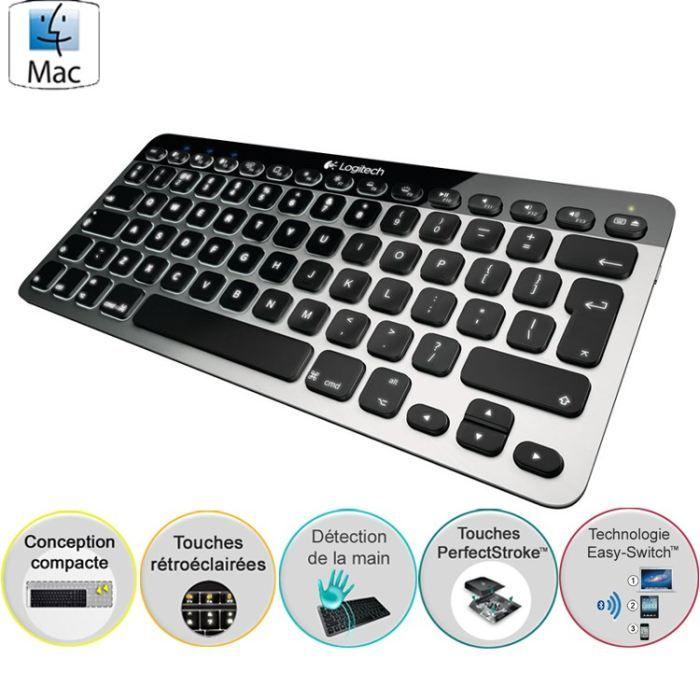 logitech clavier sans fil bluetooth easyswitch mac prix pas cher cdiscount. Black Bedroom Furniture Sets. Home Design Ideas