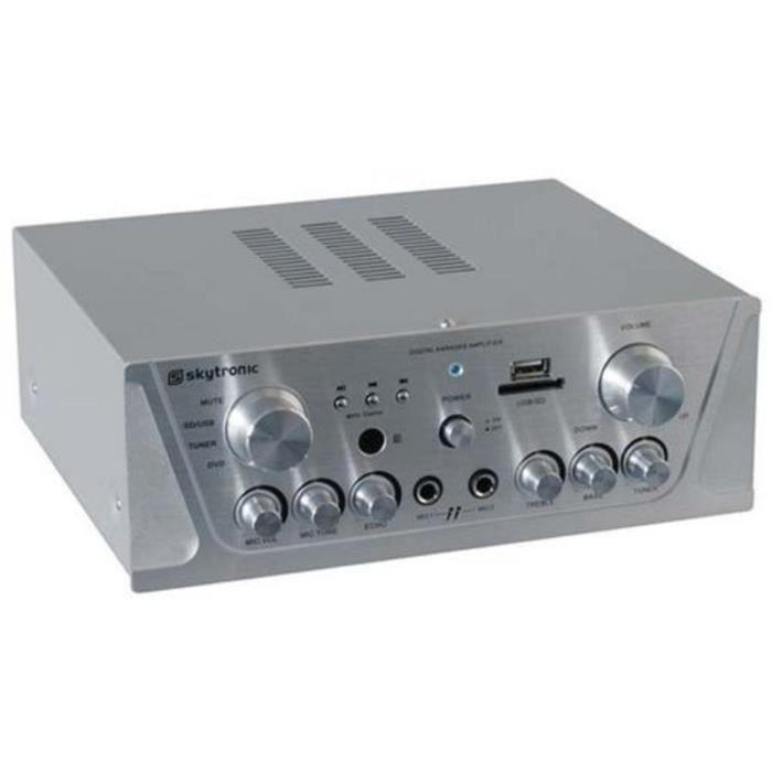 amplificateur hifi stereo home cinema karaoke 2x 100wmax fm usb sd mp3 amplificateur hifi. Black Bedroom Furniture Sets. Home Design Ideas