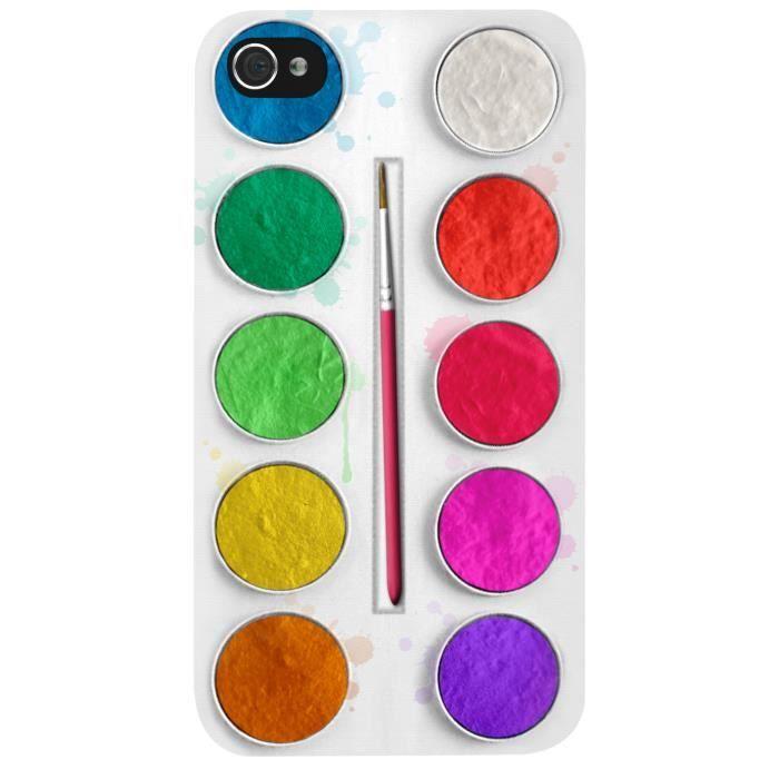 Coque rigide palette de peinture pour iphone 5 5s for Peinture palette