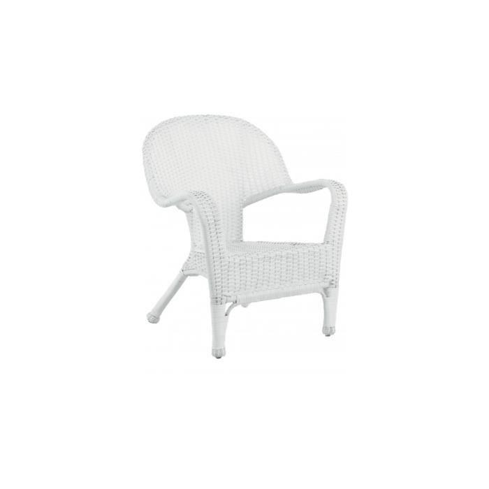 fauteuil rotin et r sine tress e blanc achat vente fauteuil blanc cdiscount. Black Bedroom Furniture Sets. Home Design Ideas