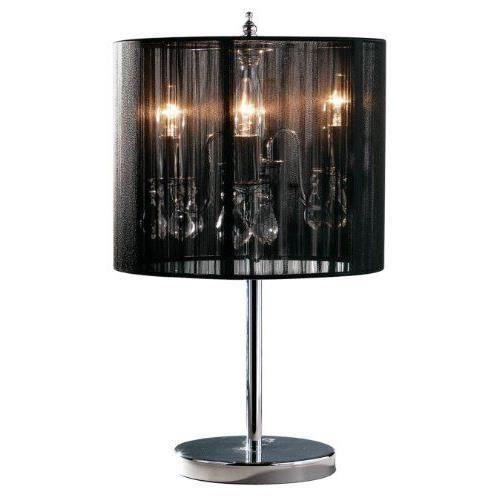 premier housewares lampe de table effet chandelier sous abat jour noir achat vente premier. Black Bedroom Furniture Sets. Home Design Ideas