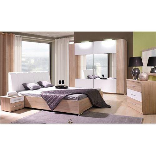 Chambre coucher compl te glori achat vente lit for Une chambre a coucher complete