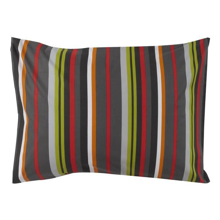 cotonflor taie d 39 oreiller rectangle coquelicot multicolore 50 x 70 cm achat vente taie d. Black Bedroom Furniture Sets. Home Design Ideas