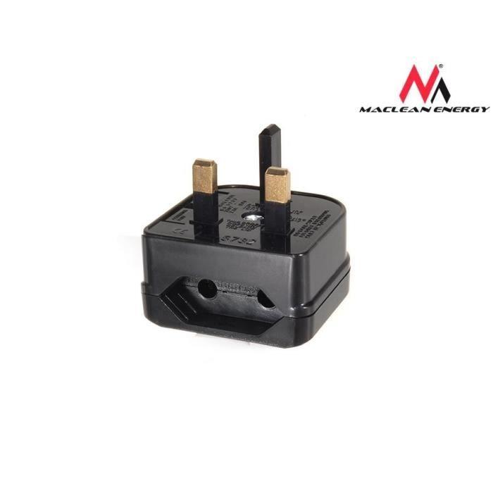 Maclean mce71 adaptateur de prise pour brancher l 39 ue en uk prix pas cher cdiscount - Adaptateur prise uk ...