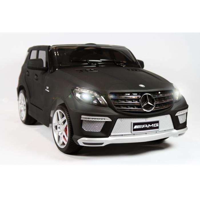 mercedes ml63 amg noir mat voiture lectrique pour enfant 12v 2 moteurs achat vente. Black Bedroom Furniture Sets. Home Design Ideas
