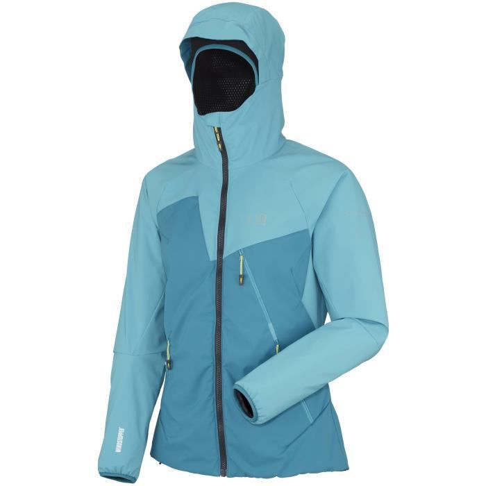 veste gore tex millet ld m elevation wds femme bleu achat vente veste de sport soldes. Black Bedroom Furniture Sets. Home Design Ideas