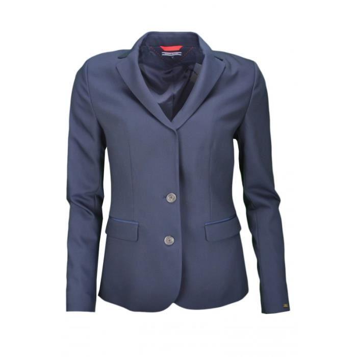 blazer tommy hilfiger fairy bleu marine pour femme bleu achat vente veste cdiscount. Black Bedroom Furniture Sets. Home Design Ideas