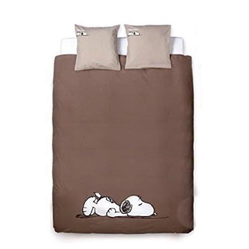 snoopy parure de lit 240x220 et 2 taies 65x65 achat vente parure de drap cdiscount. Black Bedroom Furniture Sets. Home Design Ideas
