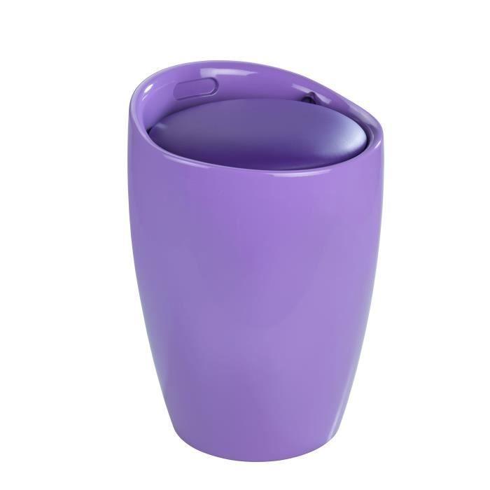 Tabouret de salle de bain candy purple violet achat for Tabouret de salle de bain