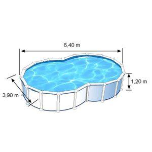 Piscine hors sol ovale 7x4 achat vente piscine hors for Prix piscine 7x4