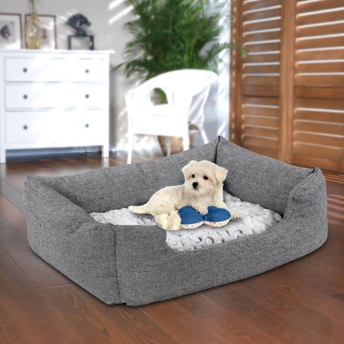 panier lit chien dog bed coussin matelas pour chien 60x50x22cm achat vente corbeille. Black Bedroom Furniture Sets. Home Design Ideas