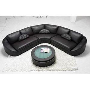 canape en cuir 6 places achat vente canape en cuir 6 places pas cher cdiscount. Black Bedroom Furniture Sets. Home Design Ideas