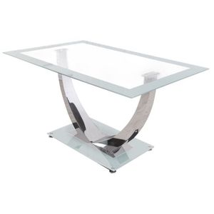 Table a manger en verre trempe 140 cm achat vente table a manger en verre trempe 140 cm pas - Table a manger verre trempe ...