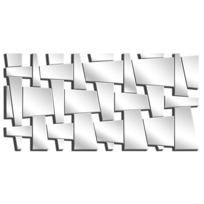 Miroir mur design moderne 140x60cm e021 achat vente for Decoration miroir mur