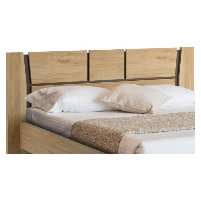 t te de lit noyer 140 d cor gris galla achat vente t te de lit t te de lit noyer 140 d cor. Black Bedroom Furniture Sets. Home Design Ideas