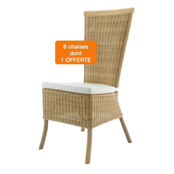 Chaises en rotin lot 6 chaises c line achat vente for Lot de 6 chaises en rotin