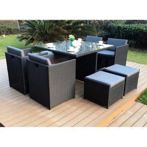 mobilier de jardin achat vente pas cher soldes cdiscount. Black Bedroom Furniture Sets. Home Design Ideas