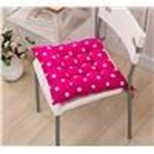 galette de chaise carr e pois rose fonc achat vente coussin de chaise cdiscount. Black Bedroom Furniture Sets. Home Design Ideas