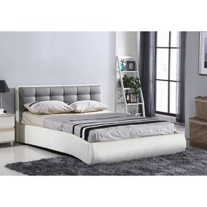 lit adulte 160x200 avec sommier achat vente lit adulte 160x200 avec sommier pas cher cdiscount. Black Bedroom Furniture Sets. Home Design Ideas