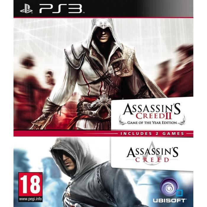 ASSASSIN'S CREED 1 + ASSASSIN'S CREED 2 / Jeu PS3 - Achat ...
