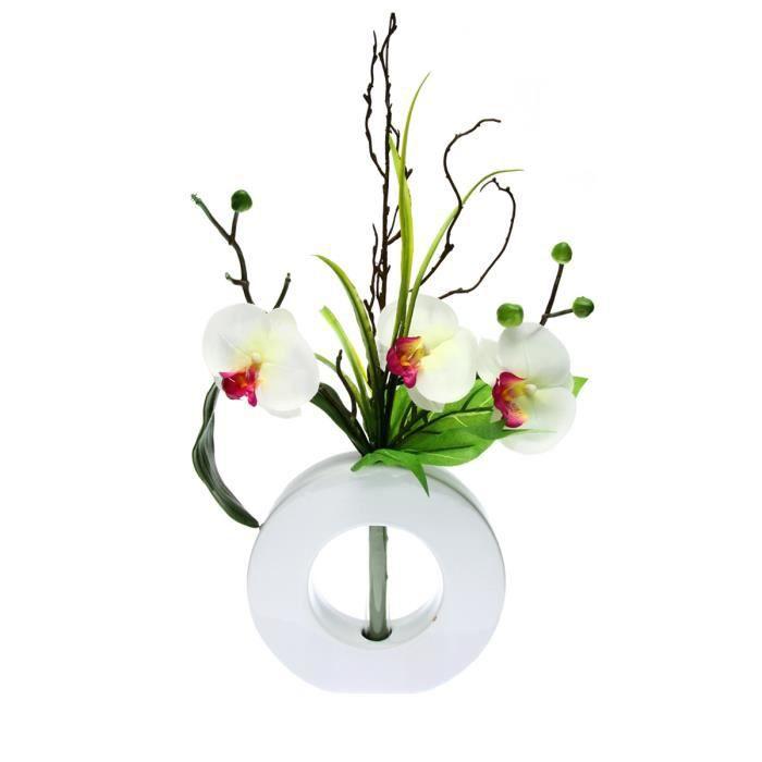composition florale orchid e blanc achat vente fleur. Black Bedroom Furniture Sets. Home Design Ideas