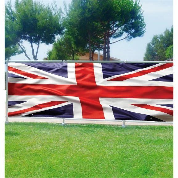 brise vue d co drapeau anglais occultation 100. Black Bedroom Furniture Sets. Home Design Ideas
