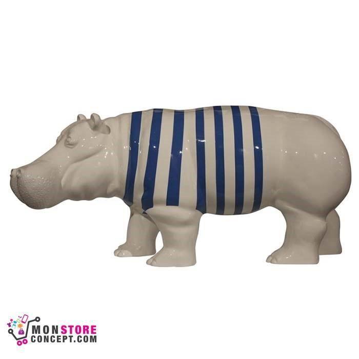 Sculpture hippopotame marinier statuette for Statue d exterieur decoration