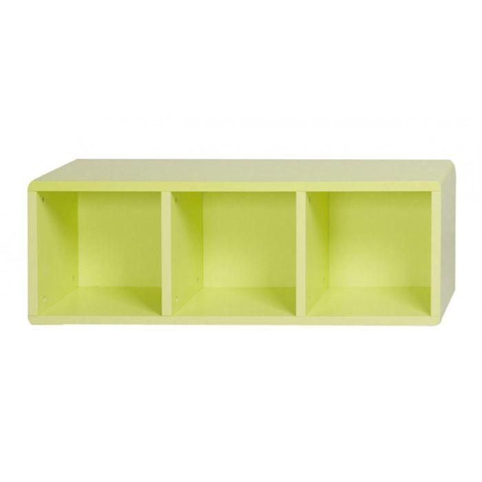 Cube de rangement 3 cases vert id 39 clik achat vente petit meuble range - Cube metallique rangement ...