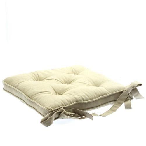 galette chaise 5 boutons lin achat vente coussin de chaise les soldes sur cdiscount. Black Bedroom Furniture Sets. Home Design Ideas