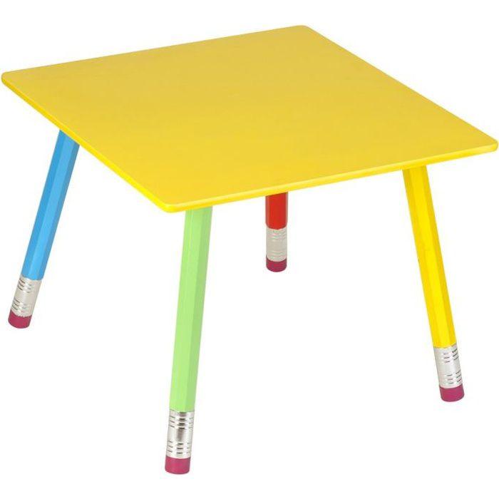 Table en bois crayons 55x55x43cm achat vente chaise - Table et chaise crayon ...