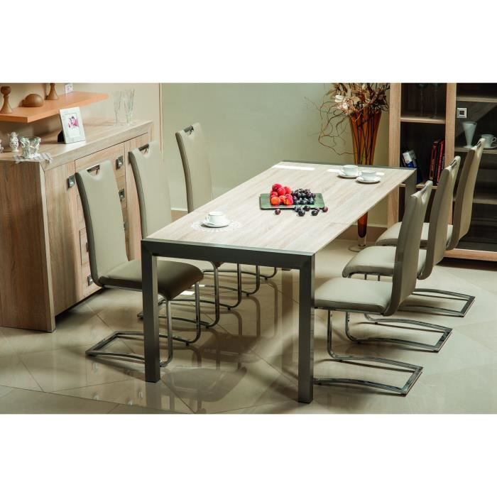 Table extensible sonoma achat vente table a manger seule table extensible sonoma cdiscount - Table extensible cdiscount ...