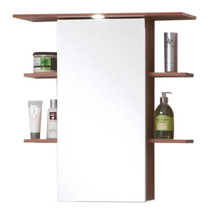 Armoire avec miroir pour salle de bains coloris merano for Armoire pour salle de bain