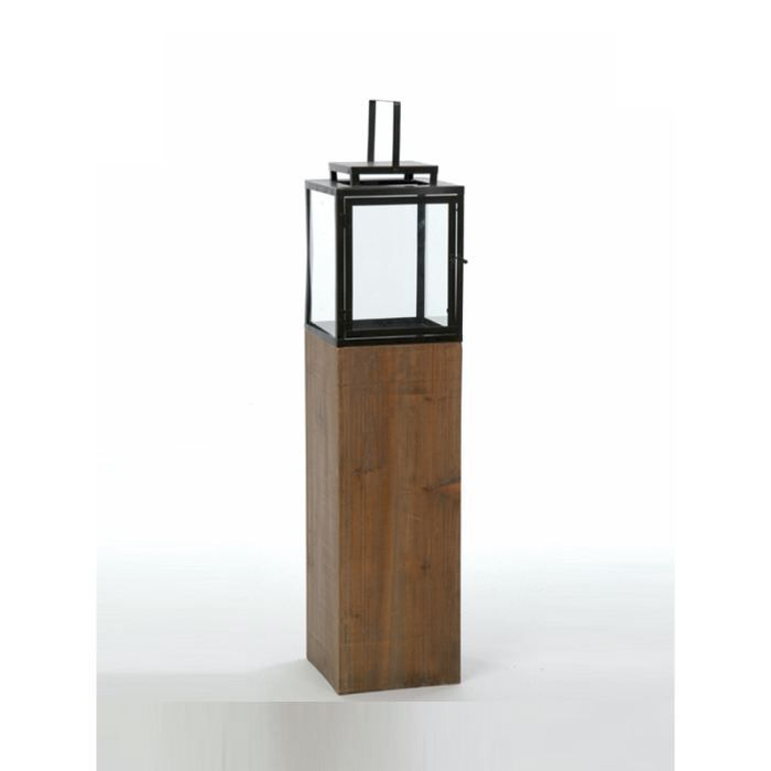 Lanterne sur pied 25 x 25 x 114 cm achat vente for Lanterne exterieur sur pied