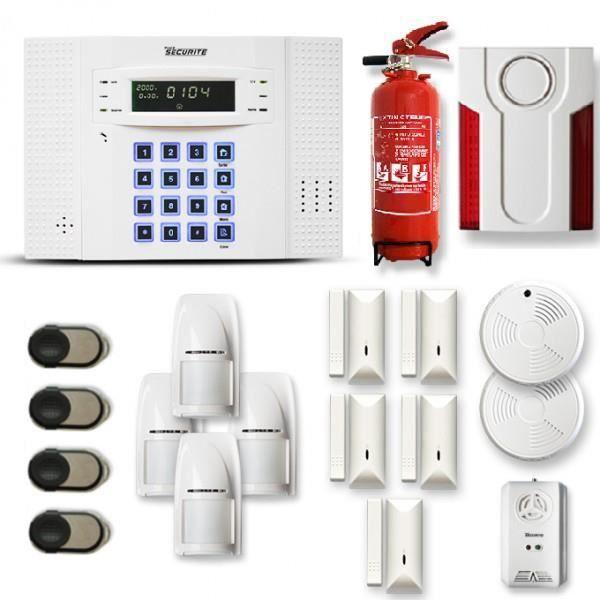 alarme maison sans fil dnb 4 5 pi ces achat vente kit alarme cdiscount. Black Bedroom Furniture Sets. Home Design Ideas