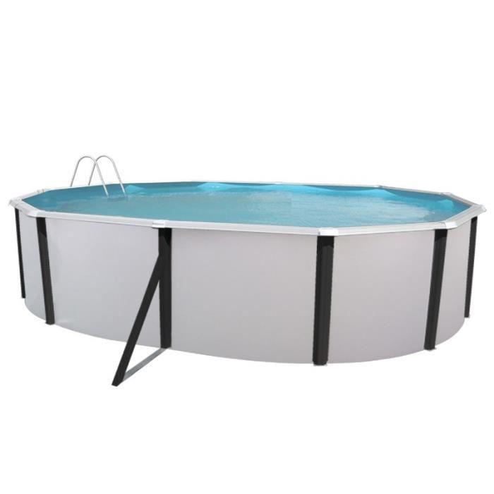 Elegance piscine ovale en acier 550x366x120cm achat for Piscine acier octogonale