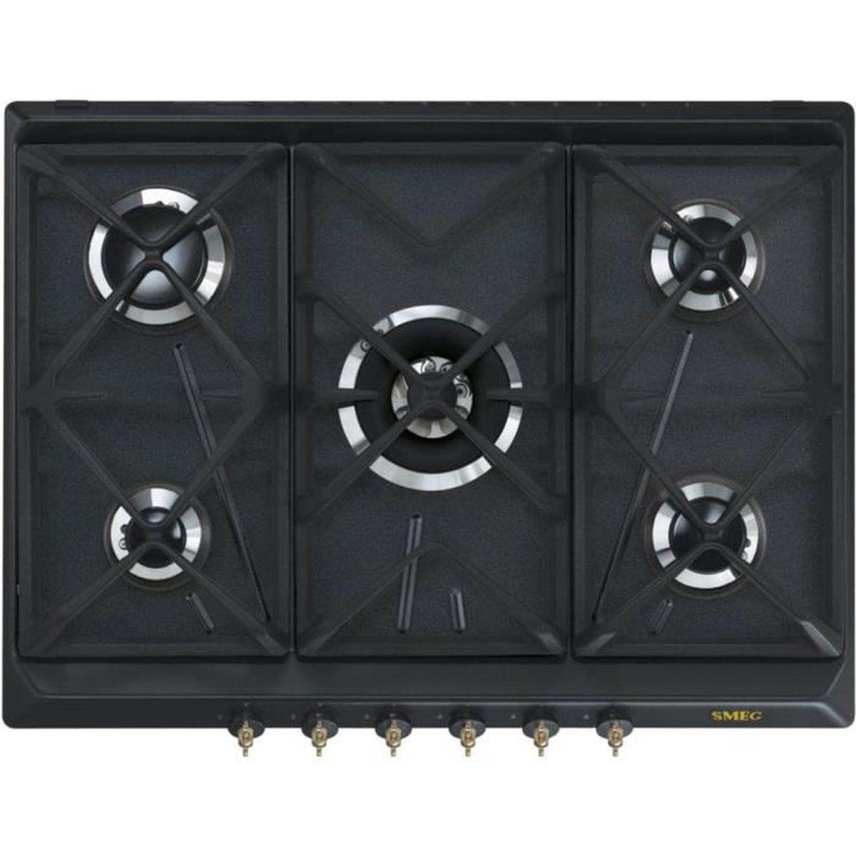 table gaz smeg srv876aogh achat vente plaque gaz soldes cdiscount. Black Bedroom Furniture Sets. Home Design Ideas