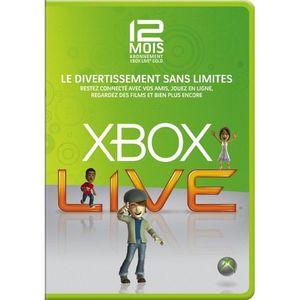 ABONNEMENT CARTE D'ABONNEMENT 12 MOIS XBOX LIVE OFFICIELLE XB