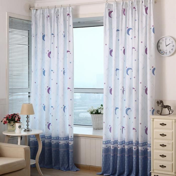 1pc haute qualit rideaux pour chambre brod fen tre for Rideau pour fenetre demi lune