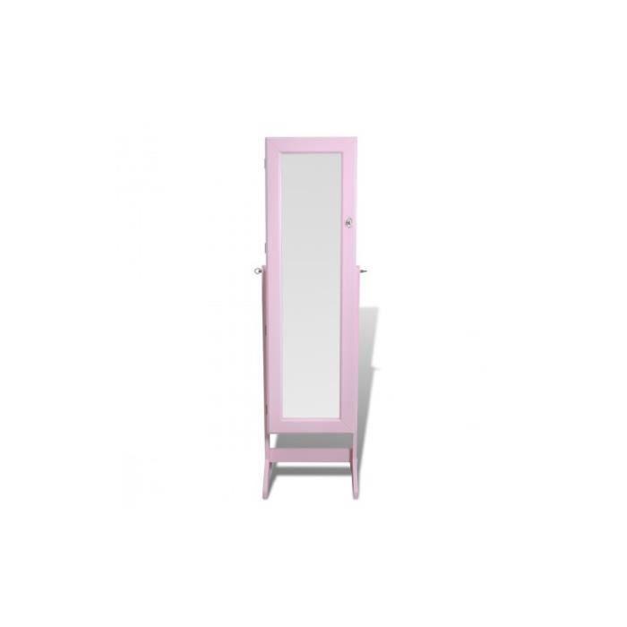 Armoire bijoux rangement miroir meuble chambre achat for Armoire rangement chambre