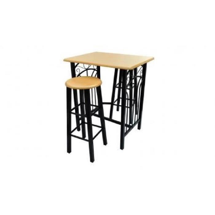 Lot avec une table haute de bar et 2 tabourets 39 39 phoenix - Table de cuisine avec tabouret ...