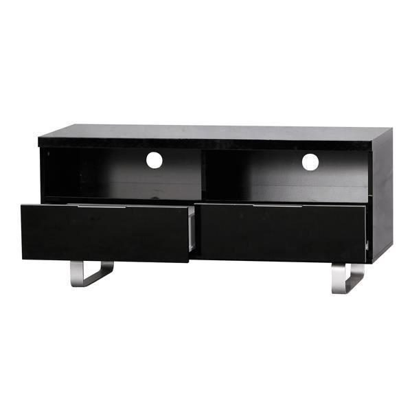 Meuble tv laqu blanc ou noir achat vente meuble tv - Meuble tv blanc noir ...