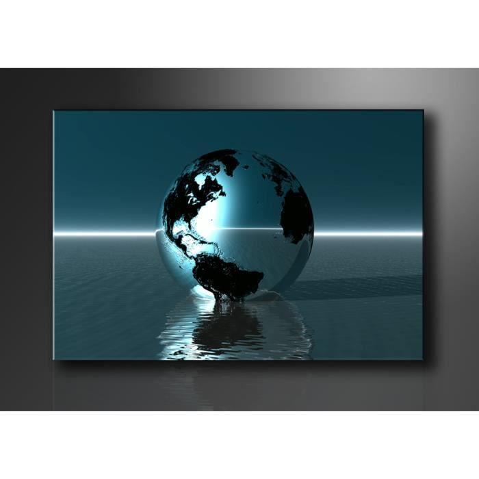 Tableau moderne imprim 120x80 cm planete achat vente tableau toile t - Vente tableau moderne ...