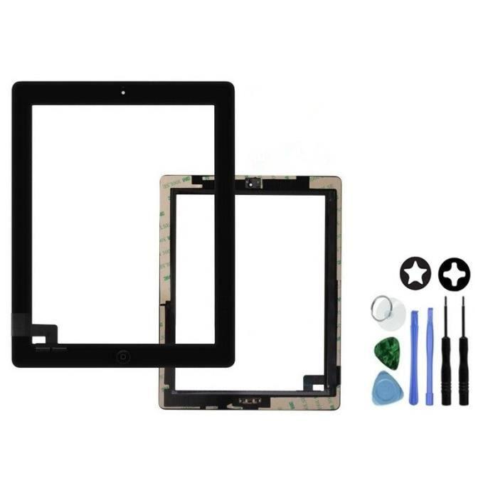 vitre tactile compl te pour ipad 2 noir prix pas cher. Black Bedroom Furniture Sets. Home Design Ideas