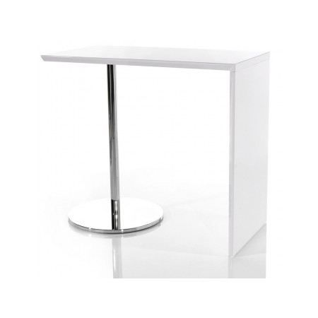 Table de bar tomy blanc laqu achat vente mange debout table de bar tomy - Table bar blanc laque ...