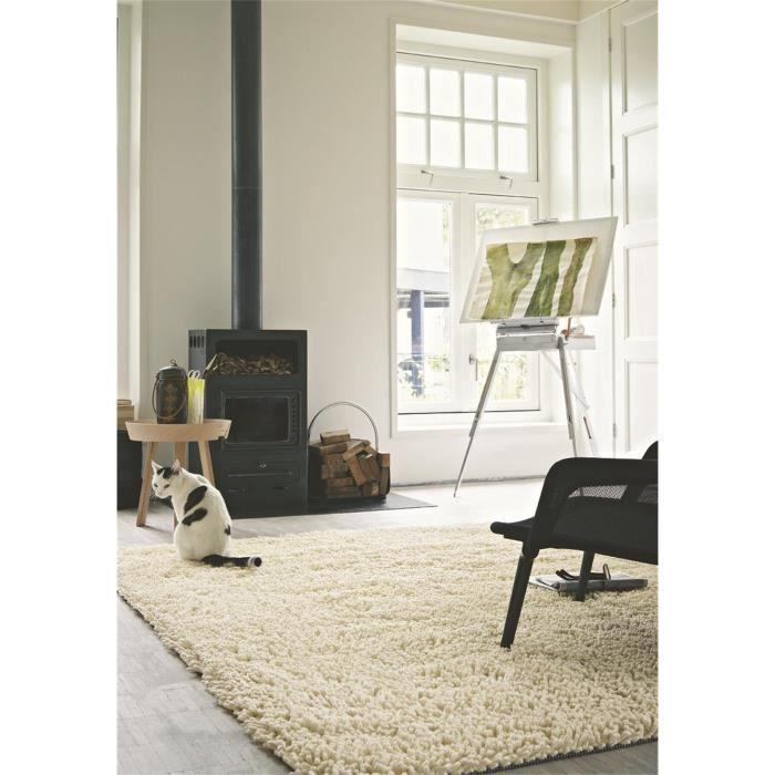 brink campman tapis poils long cross blanc 200x300 cm achat vente tapis cadeaux de no l