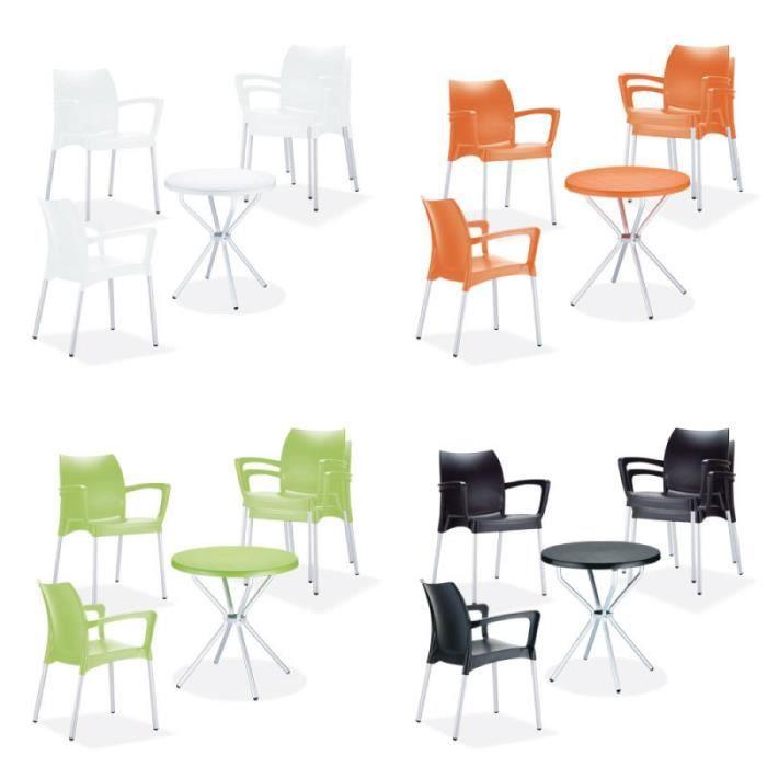 Clp salon de jardin goya lot de 4 chaises de jardin for Clp annex 6 table 3 1